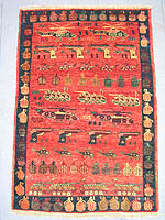 Natural Dye Red Peshawar War Rug #1