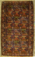 (exhibited at Miami University Art Museum)Old Car Style Herat Rug