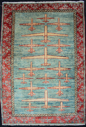 Light Blue Drone Rug