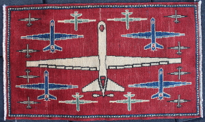Red Eyed Reaper Drone War Rug