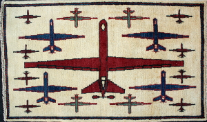 Red Reaper Drone War Rug