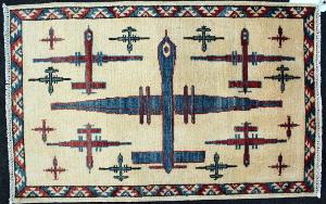 Blue Predator Drone War Rug (2/3)