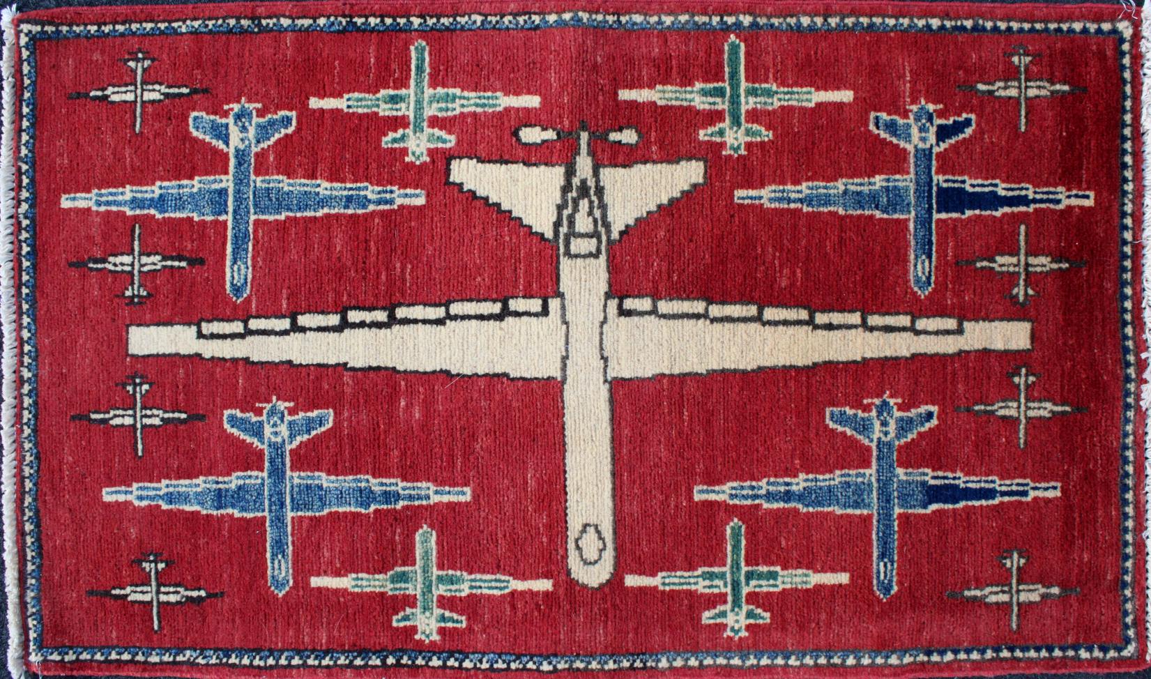 Yellow Afghan map war rug