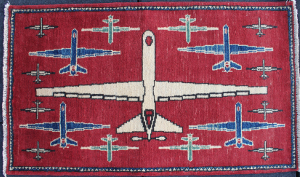 Reversed Red Eye Reaper Drone Rug