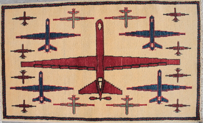 Red, White, and Blue Drone War Rug (2017)