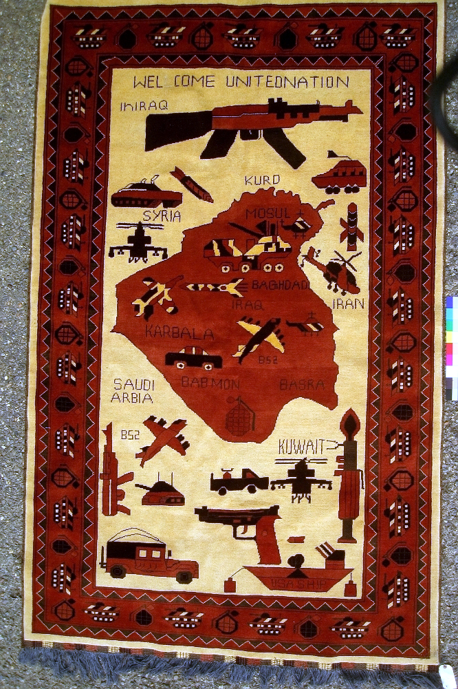 Conflict carpet from Afghanistan