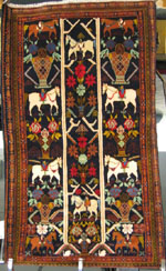 War Rug shown at Exhibition