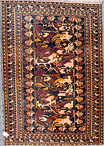 Horsemen with Swords Al Kouwaja Rug