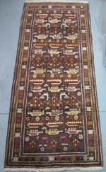 Rare Baghlani War Rug (Price reduced 1/27/15)
