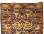 2 ewer damaged Afghan War Rug
