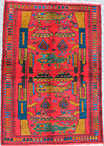 Exceptionally Knotted Red War Rug