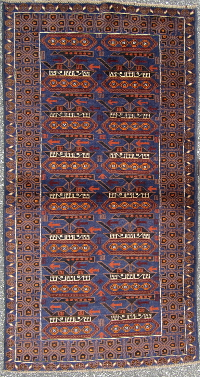 Ten Tank War Rug with Beautiful Blue Field