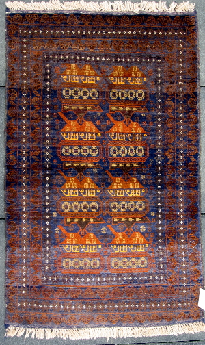 Afghan rug featuring war motifs - sorted by price