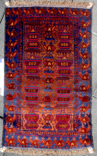 Red Outlines War Rug