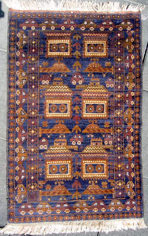 This Is A Contemporary Afghan War Rug (2010) Featuring An Unusual Design.  Car Borders Have Become Increasingly Common On A Wide ...