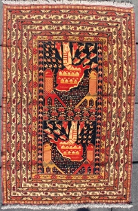 Ali Khwaja War Rug with Planes, Tanks, and Bombs Pouring into Map of Afghanistan. On Hold for MdC on 3/2/15