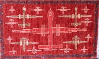 First Example of Predator Drone Rug - First Batch