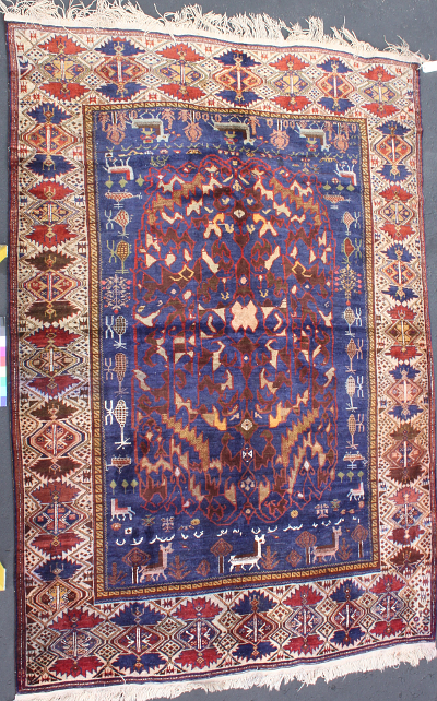 Cloudburst Medallion with Helicopters and Special Border<br> </b>Price on request Afghan Rug