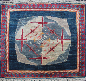 Small Medallion Drone War Rug