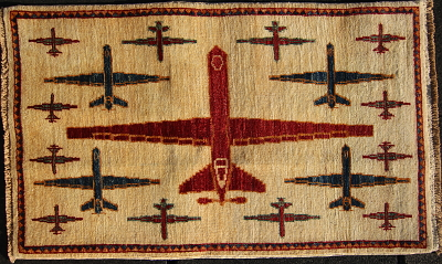 Red, White, and Blue Drone rug