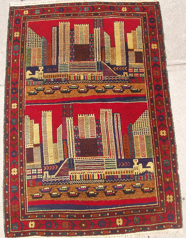 Afghan war rug in exhibition at Temple University