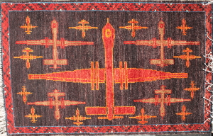 Night Sky Armed Predator Drone War Rug