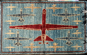 Red, White, & Blue Reaper Drone Rug