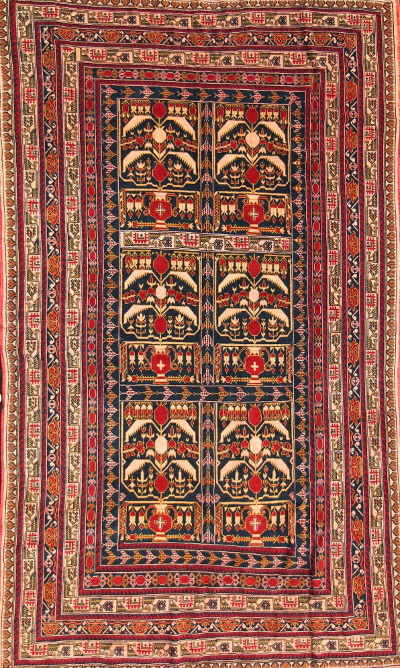 Pomegranate Ali Kwaja with Airplane Guard Stripes<br> Price on request Afghan Rug