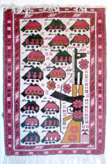 AK all APCs Afghan War Rug