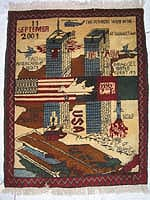 World Trade Center 9/11 War Rug with White Dove 2