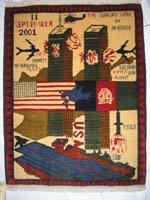 World Trade Center 9-11 War Rug with Spare Field
