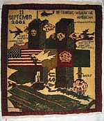 Square Shaped World Trade Center, September 11, War Rug