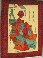 Beautiful Afghan Province Map Rug