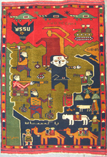 Najibullah Afghan Civil War Rug