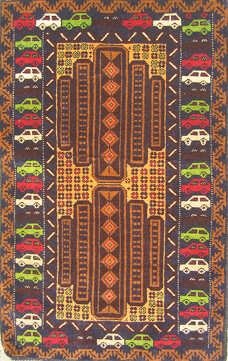 Marvelous Country Of Origin (estimated): Afghanistan War Rug Style: 8 Lobed Baluch  Medalion War Rugs War Rug Ethnic Origin: Baluchi General Description: