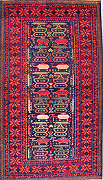 Mushwani Rows of Weapons War Rug