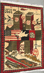 Red and Green World Trade Center Rug from 2002
