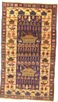 Golden Border with Burkas Afghan War Rug