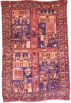 Older 4 Frame Pictorial Afghan War Rug