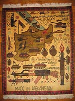 Very Rare Afghan War Rug Saying -Al Qaeda has Taken Flight -