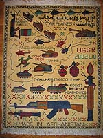 All Yellow Soviet Story Afghan War Rug