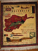 Scattered Map Sub style of F-16 War on Terrorism War Rug with Weavers Combs