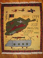 Grey H-46 Sea Knight (thanks Bruce) Helicopter Afghan War Rug