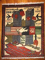 World Trade Center September 11 Afghan War Rug - Grey Towers