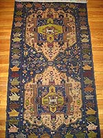 Camel Medallion Herati Afghan War Rug with Tank Border