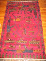 Ghazni Wool Red Rug