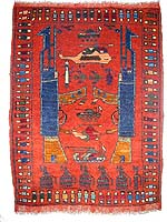 Rust Colored Red War Rug