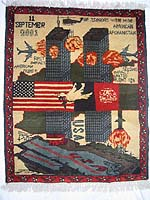World Trade Center War Rug with Dark Colors