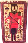 Yellow King  Afghan War Rug