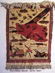 Yellow Map  Afghan War Rug